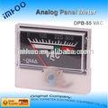 pequeño analógica medidor de voltaje analógico amperios y medidor de voltaje