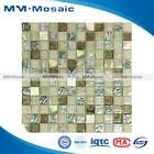 new design glass mosaic wall art/decorative crystal glass mosaic tile