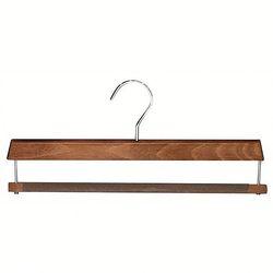 wood hanger with velvet shoulder