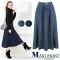 el último 2015 pantalones vaqueros falda largaimágenes de diseño para las mujeres
