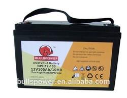 Hot selling Ups battery 12v 100ah for Medical equipments/Solar system
