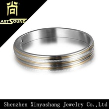 Factory sale custom stainless steel bangle with word