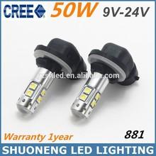 High Power White 9V 24V 50W 881 Fog Lamp Auto LED