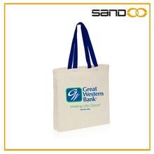 Sandoo plain shoulder cotton tote bag, new popular tote shopping bag
