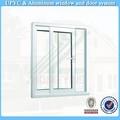 40 $5 por metro cuadrado blanco de un solo cristal pvc ventana deslizante
