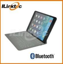 Ilinktec 2015 top quality 9.4 inch case wireless bluetooth flexible keyboard for ipad mini