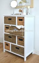 Big Space Storage Unit, Wicker Drawers, Hallway, Kitchen, Bathroom storage cabinet