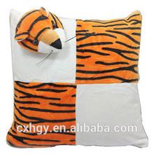 hot sale square pillow chair stuffed & plush animal/ Plush tiger pillow