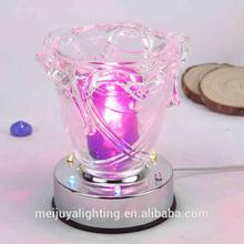 wholesale modern chrome crystal floor lamp electric incense burner manufacturer G1765