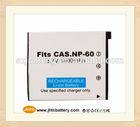 High Quality Digital Camera Battery NP-60 for Casio Exilim EXZ80BK , battery manufacturer