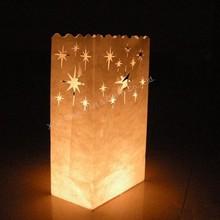 Party favor flame retardant luminary paper bag