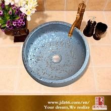 New style gild silver handmade glazed white ceramic bowl wash basin for best sale in Europe market