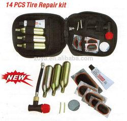 14 pcs Canvas Repair Kit Bicycle and Bike Repair Tool Kit