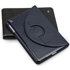 QIALINO newest leather case for ipad 2/3/4 pure handmade for ipad2/3/4 case for ipad 4