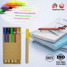 2015 custom highlighter pen with paper box
