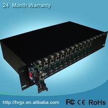 OEM in stock double power 16 slot media converter rack