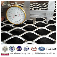 expanded aluminum decorative 3s metal wire mesh wall cover panels(ISO9001)