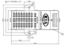 TE 1-1743338-3 C.E BOX ASSY-BL(I/P)FL 08MY