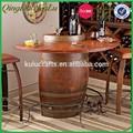 Decorativo de la novedad del barril de madera de mesa, Bar de mesa barril