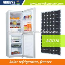 Stainless steel upright 12v boat fridge dc refrigerator solar absorption refrigerator