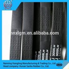 Sanliu new product national standard black strong durability rubber v belt