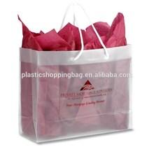 Custom Printed Cotton Loop Handle Plastic Tote Bag Wholesale