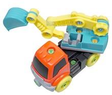 children combined plastic toy car , dismantling engineering vehicles,crane