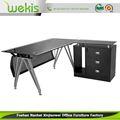 La mejor calidad de lujo por encargo de mesa de madera maciza Bases para mesas cristal