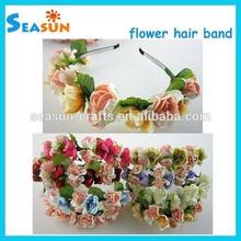 OEM Handmade Boho Woodland Wedding Flower Garland Headband