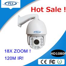 best selling cctv 4.7-84.6mm, 18X RS 485 ir ip66 pan tilt zoom security network ip camera
