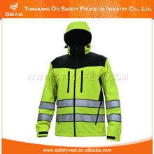 2015 precio barato del Color de la fluorescencia mejor a prueba de agua de la chaqueta Goretex