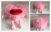 Big plush heart animated rolling eyes heart cushion for Valentine