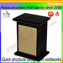 Wholesale factory custom wood charity donation box