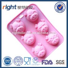 Pig shape silicone cake ,Jelly mould FDA ,LFGB certificate