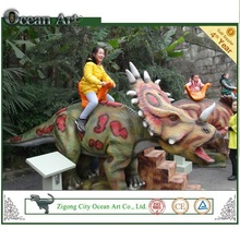 2015 coin operated kids dinosaur rides kids machine