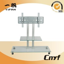 tempered glass lcd tv table,led tv stand for TS-009