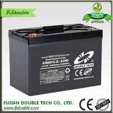 maintenenace free 12v 100ah ups battery, black battery cover