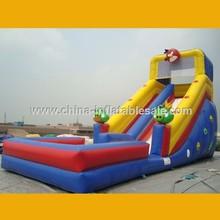 Cartoon Game Water Slide Inflatable Pool