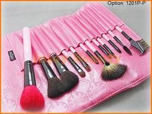 New !professional 10 Pcs Blue Makeup Brush Set Makeup Toiletry Kit Make Up Brush Set Cosmetic Brush With Blue Case Bag 1201P-P