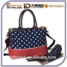 Large Nylon Fashion Baby Diaper Nappy Bag Womens Mummy Handbag