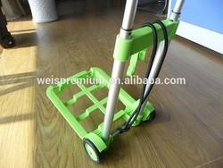 Plastic Colorful Portable Foldable Luggage Cart