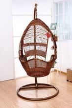 Hot selling PE rattan swing chair, powder coated frame, UV resistant and waterproof PRC14836