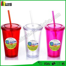 alibaba supplier hot new product for 2015 promotional item murano glass cup double wall plastic tumbler