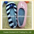 W-1054 mujeres de la muchacha de interior no skid zapatillas de algodón piso antideslizante zapatillas