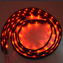 Red small battery operated led strip light