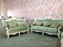 Velvet sectional sofa , wood frame sofa set