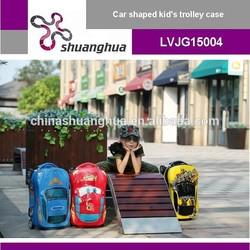 Car-shaped 18'' kid's cartoon hard shell luggage