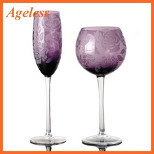 Hand blown colored champagne glass,champagne flute,drinking glass