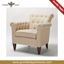 American Style Single Seater Sofa, Arm Chair, Tufted Button, Constrast Color