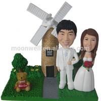 Custom bobblehead, wedding cake topper handmade from photo, creative wedding gift- Our weddding day 1, anniversary